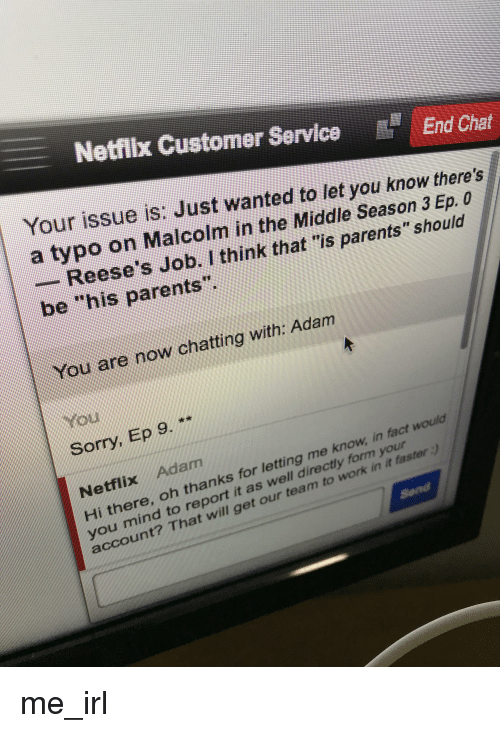 netflix customer service e end chat your issue is just wanted to let