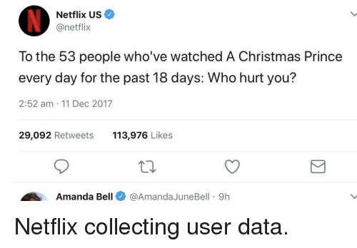Netflix US to the 53 People Who've Watched a Christmas