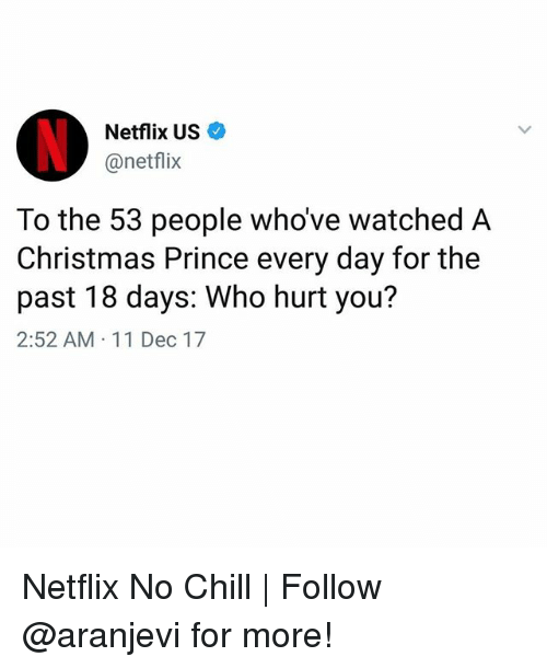 Netflix US to the 53 People Whove Watched a Christmas Prince