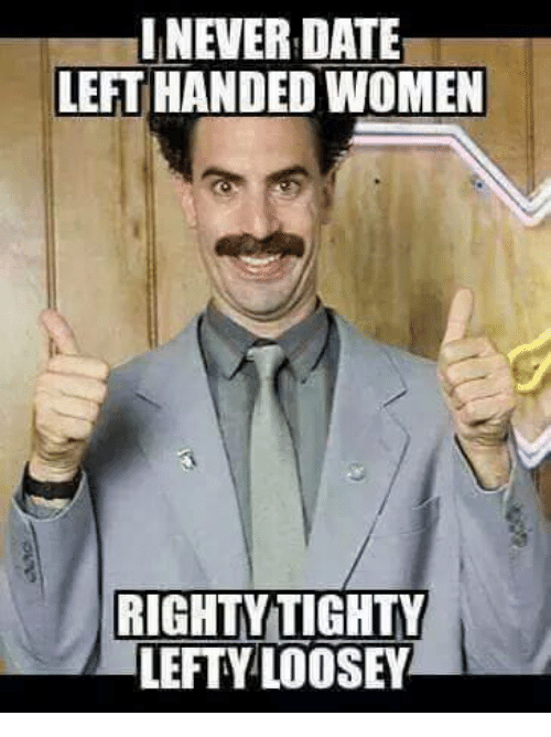 Dating a left handed woman