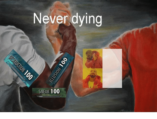 Anaconda, Never, and Dying: Never dying  SNEAK 100