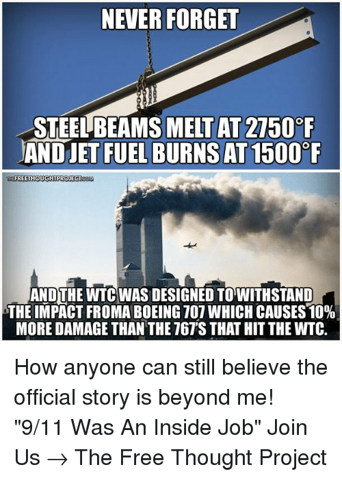 9 11 memes and boeing never forget melt at 2750 f and