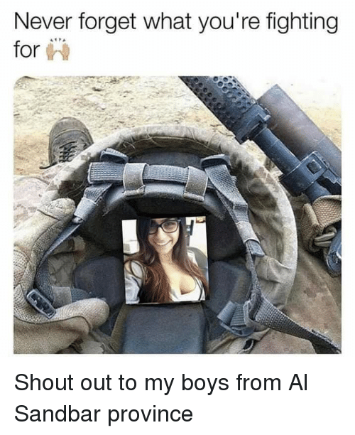Funny, Never, and Boys: Never forget what you're fighting  for i