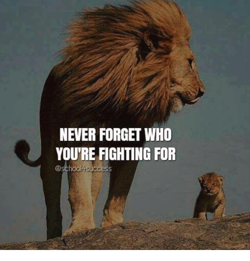 Bilderesultat for never forget what you're fighting for