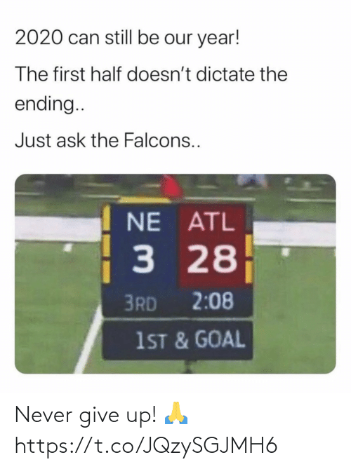 Football, Nfl, and Sports: Never give up! 🙏 https://t.co/JQzySGJMH6