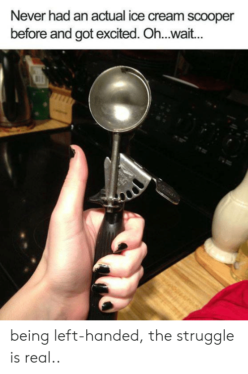 Never Had An Actual Ice Cream Scooper