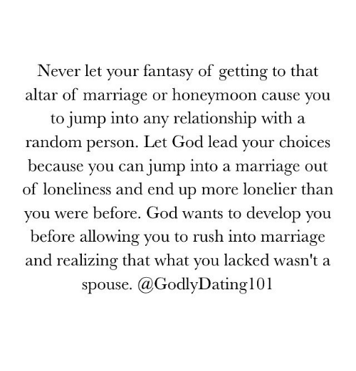 Dating before getting into a relationship christian
