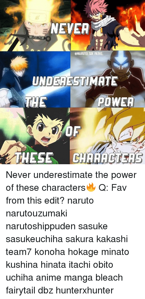NEVER SIX PATHS UNOSAESTIMATE THE POWER THESE GAAAAGEAS