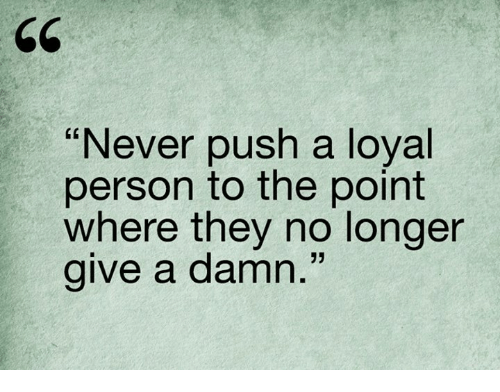 what is a loyal person