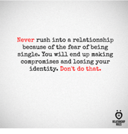 fear of losing a relationship