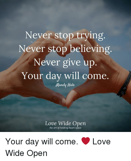 never give up your love
