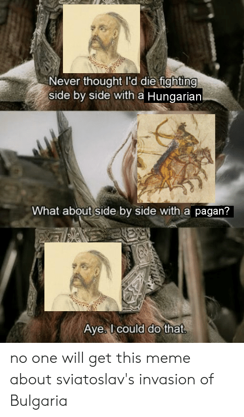 Never Thought I D Die Fighting Side By Side With A Hungarian What