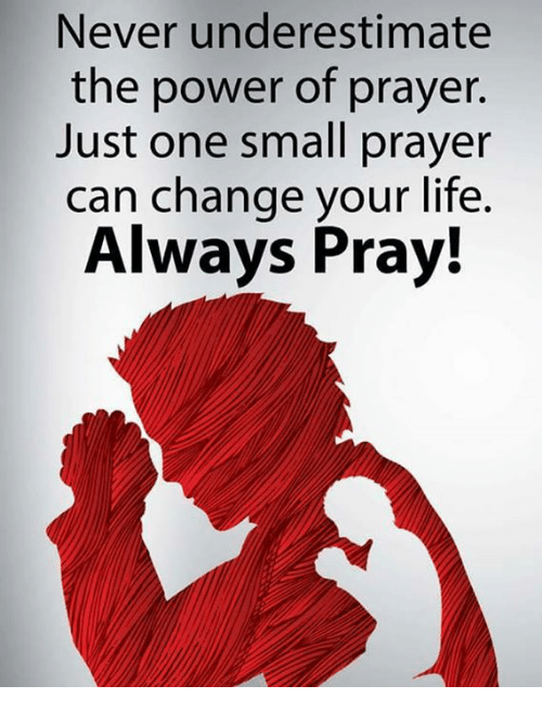 Taking The Power of Prayer For Granted