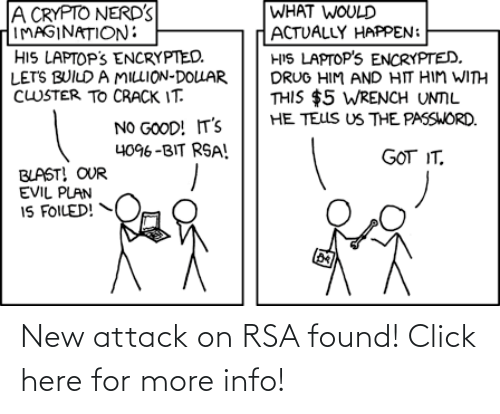 Click, Rsa, and New: New attack on RSA found! Click here for more info!