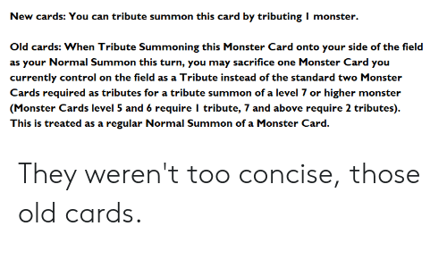 New Cards You Can Tribute Summon This Card by Tributing I