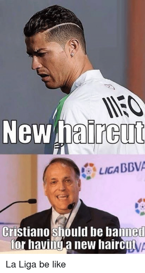 New Haircut Licabbva Cristiano Should Be Banned For Having New