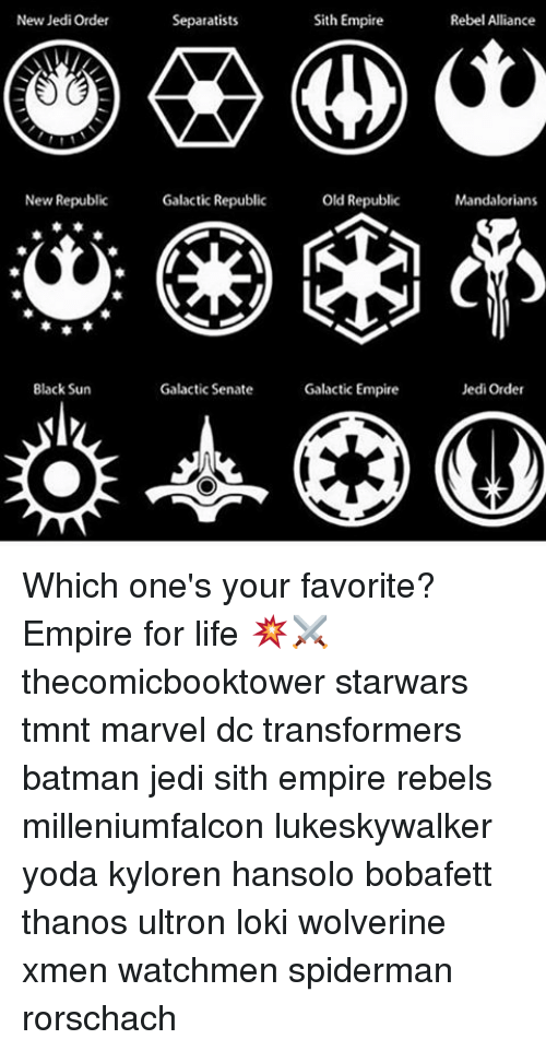 New Jedi Order New Republic Black Sun Sith Empire Separatists