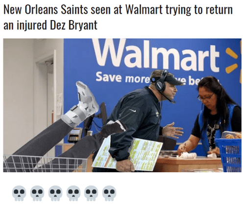 New Orleans Saints Seen At Walmart Trying To Return An