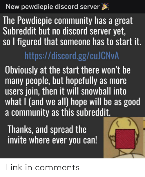 New Pewdiepie Discord Server the Pewdiepie Community Has a Great