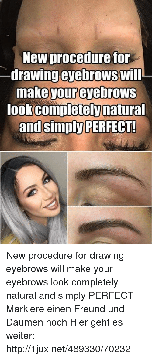 New Procedure For Drawing Eyebrows Will Make Your Eyebrows Look