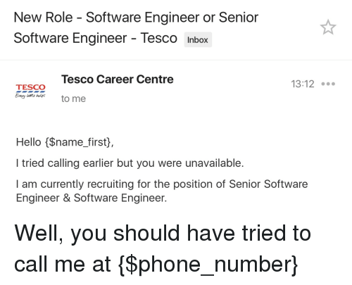 hello phone and inbox new role software engineer or senior software engineer - Responsibilities Of A Software Engineer