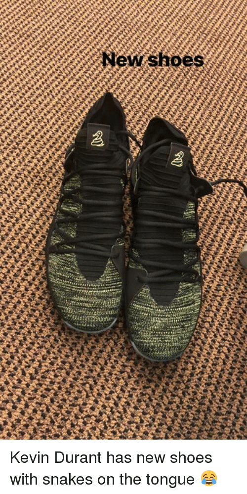 5de3544917c2 New Shoes Kevin Durant Has New Shoes With Snakes on the Tongue ...