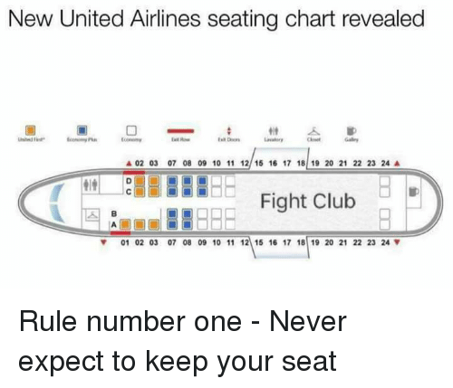 Club Fight And Memes New United Airlines Seating Chart Revealed A 02