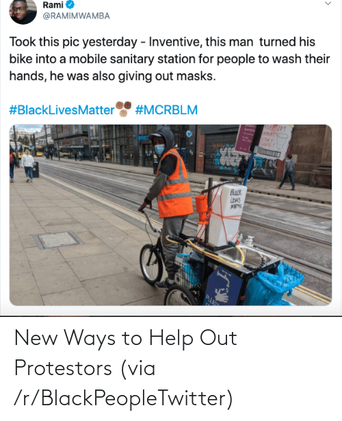 Blackpeopletwitter, Help, and Via: New Ways to Help Out Protestors (via /r/BlackPeopleTwitter)