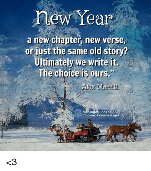 New Year a New Chapter New Verse or Just the Same Old Story ...