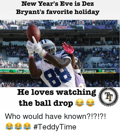 New Year S Eve Is Dez Bryant S Favorite Holiday Mst Bank He