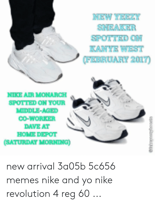 5bc4bff8383 NEW YEEY SNEAKER SPOTTEDOM KANYE WEST FEBRUARY 2017 NIKE AIR MONARCH ...