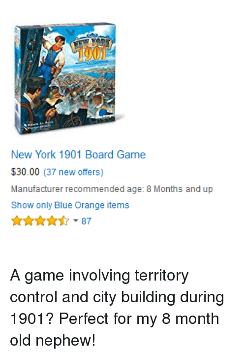 0e81052cf21 New York 1901 Board Game  3000 37 New Offers Manufacturer ...