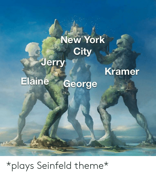New York City Jerry Kramer Elaine George *Plays Seinfeld
