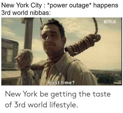 New York City *Power Outage* Happens 3rd World Nibbas