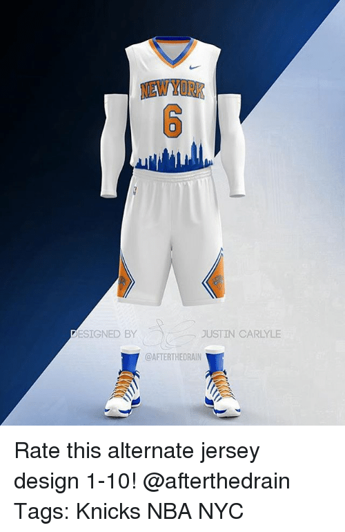 New York Esigned By Justin Carlyle Rate This Alternate Jersey Design