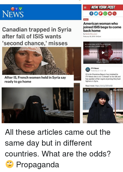 New York Post Ctv News American Woman Who Canadian Trapped In Syria
