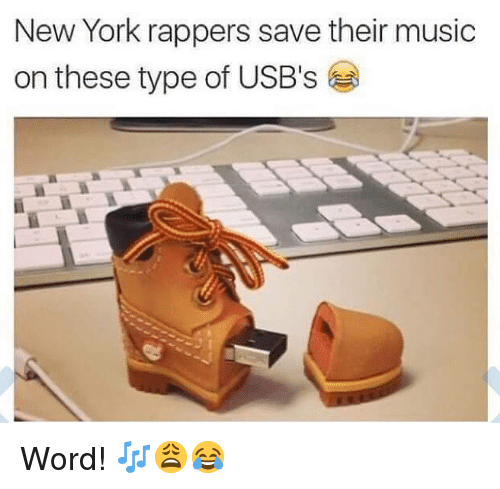 Music, New York, and Word: New York rappers save their music  on these type of USB's Word! 🎶😩😂