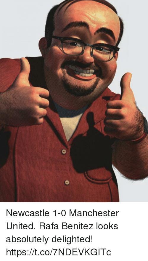 Soccer, Manchester United, and United: Newcastle 1-0 Manchester United.  Rafa Benitez looks absolutely delighted! https://t.co/7NDEVKGITc