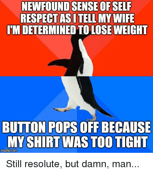 i am determined to lose weight