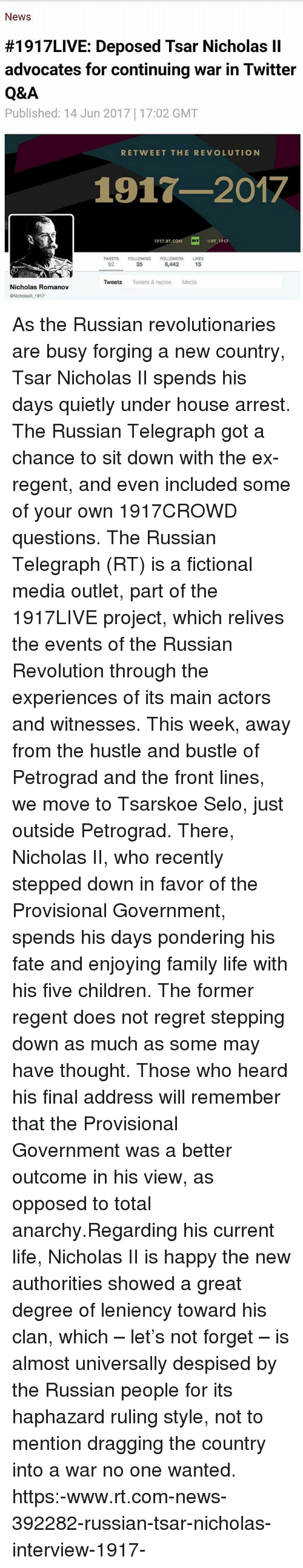letter to tsar nicholas ii about russias problems essay What would nicholas 2 have to do to prevent the russian revolution hi i have to write an essay about this topic pls give me as many points as possible.