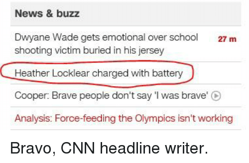 News   Buzz Dwyane Wade Gets Emotional Over School 27 M Shooting Victim  Buried in His Jersey Heather Locklear Charged With Battery Cooper Brave  People Don t ... a5e56917a