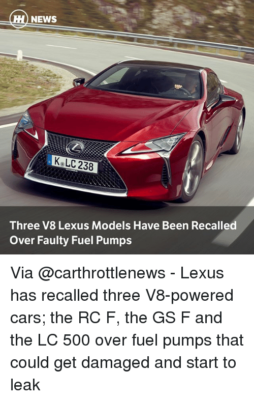 NEWS K LC 238 Three V8 Lexus Models Have Been Recalled Over Faulty