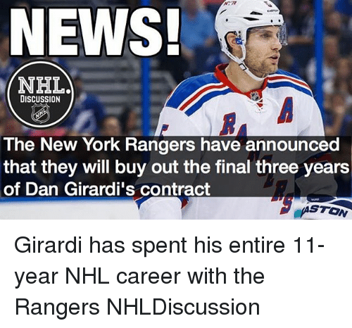 c9f571d998b NEWS! NHLad DISCUSSION the New York Rangers Have Announced That They ...