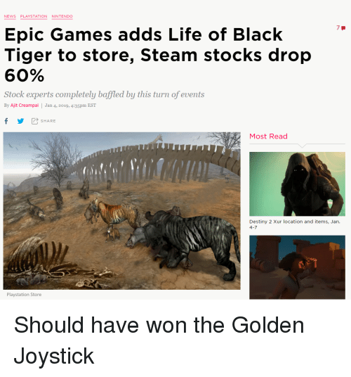 epic games stock