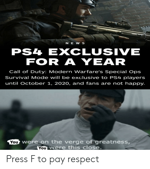News Ps4 Exclusive For A Year Call Of Duty Modern Warfare S