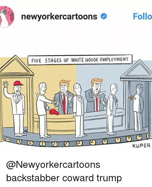Newyorkercartoons Follo Five Stages Of White House Employment Kuper