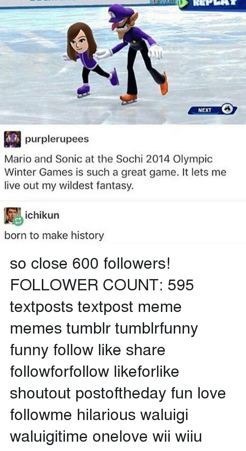 Funny Love And Meme Next Purple Rupees Mario And Sonic At The Sochi