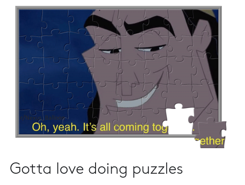 Ether, Love, and Reddit: Nexus Ba  Oh, yeah. It's all coming tog  ether Gotta love doing puzzles