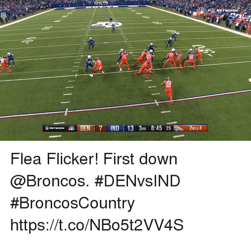 Memes, Broncos, and Flea: NF  86  ND & Flea Flicker!  First down @Broncos. #DENvsIND #BroncosCountry https://t.co/NBo5t2VV4S