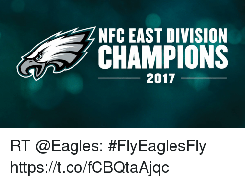 a4503a8266c NFC EAST DIVISION CHAMPIONS 2017 RT  FlyEaglesFly httpstcofCBQtaAjqc ...
